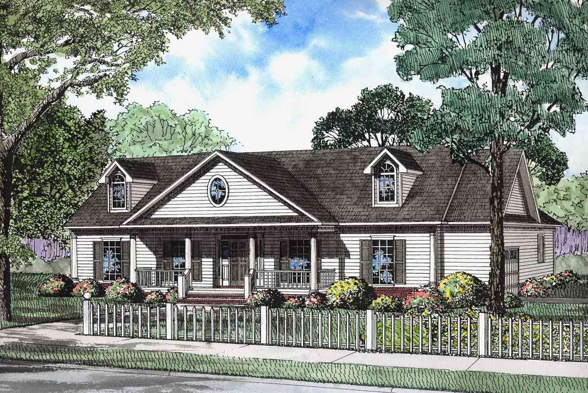 Stately Historical Home Plan 59145nd Architectural