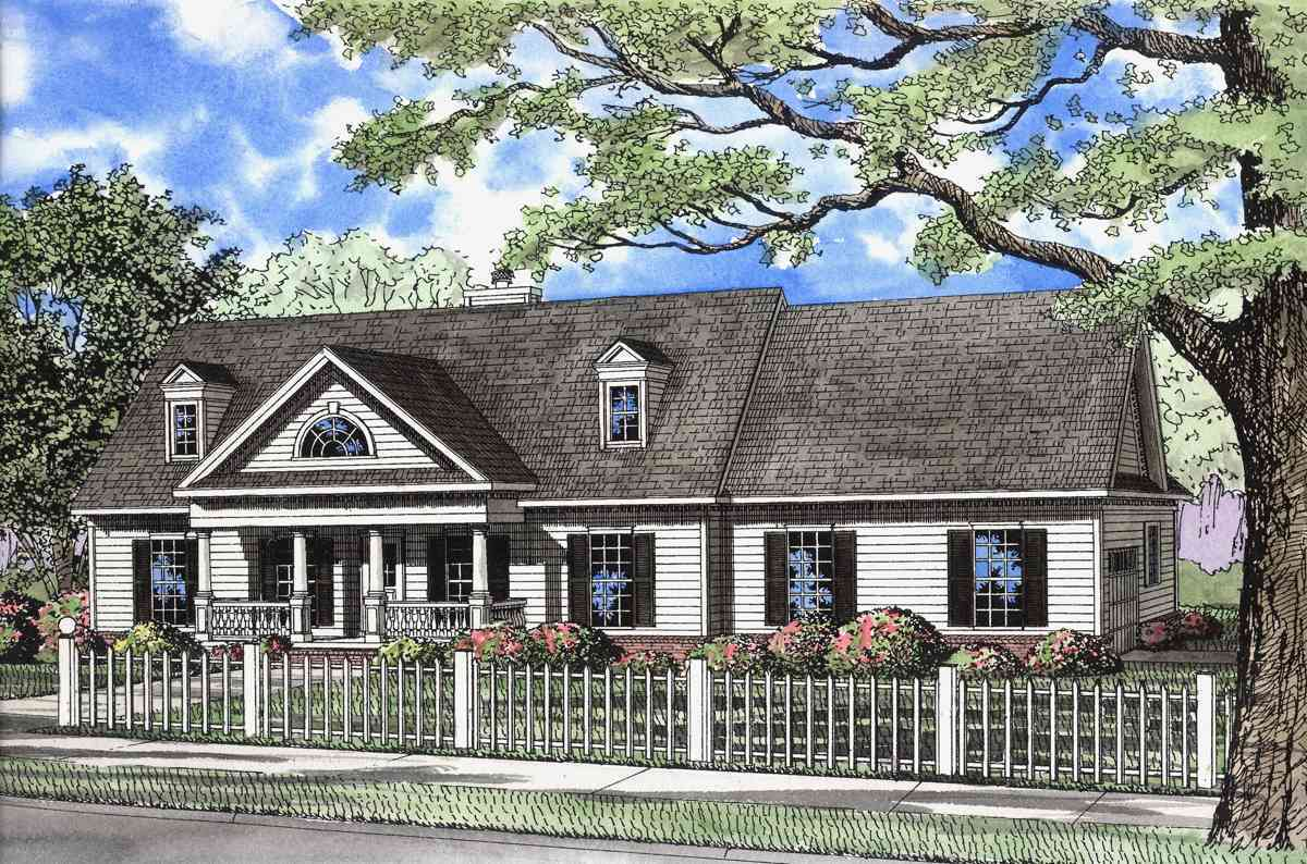 Historical Southern Traditional House Plan 59150nd