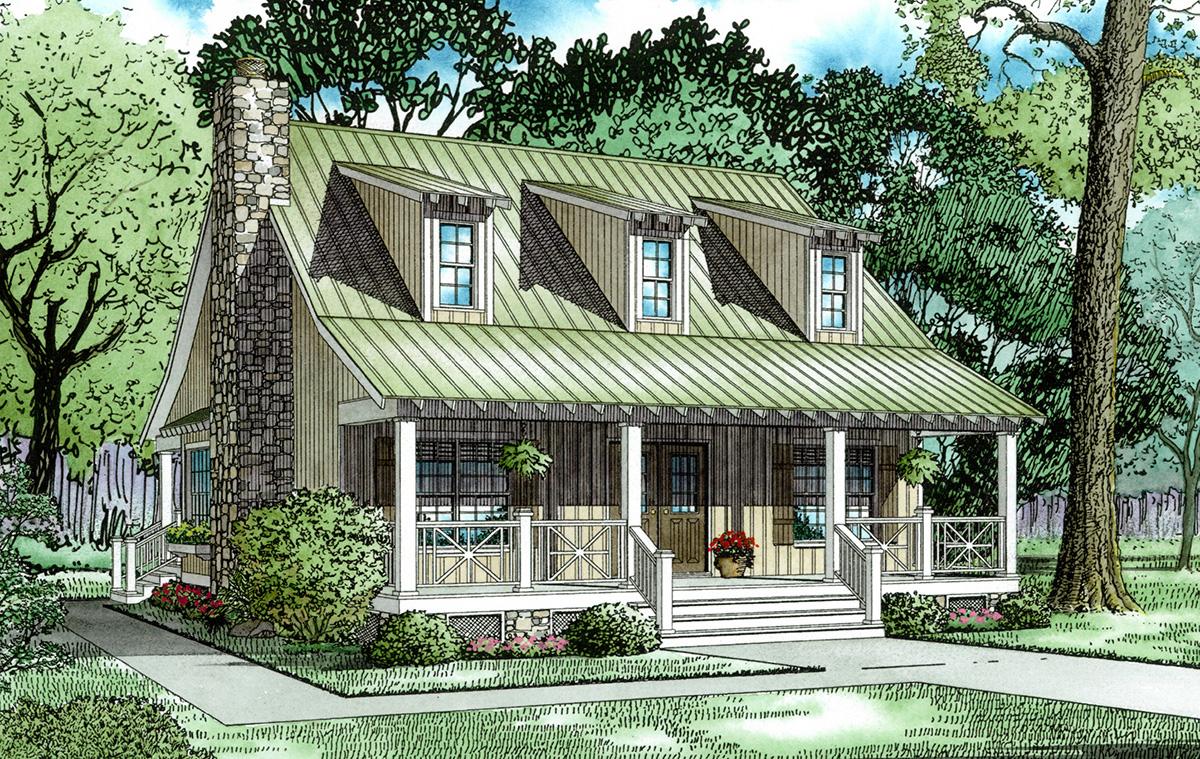 Unique cabin cottage 59152nd architectural designs for Unique cottage house plans