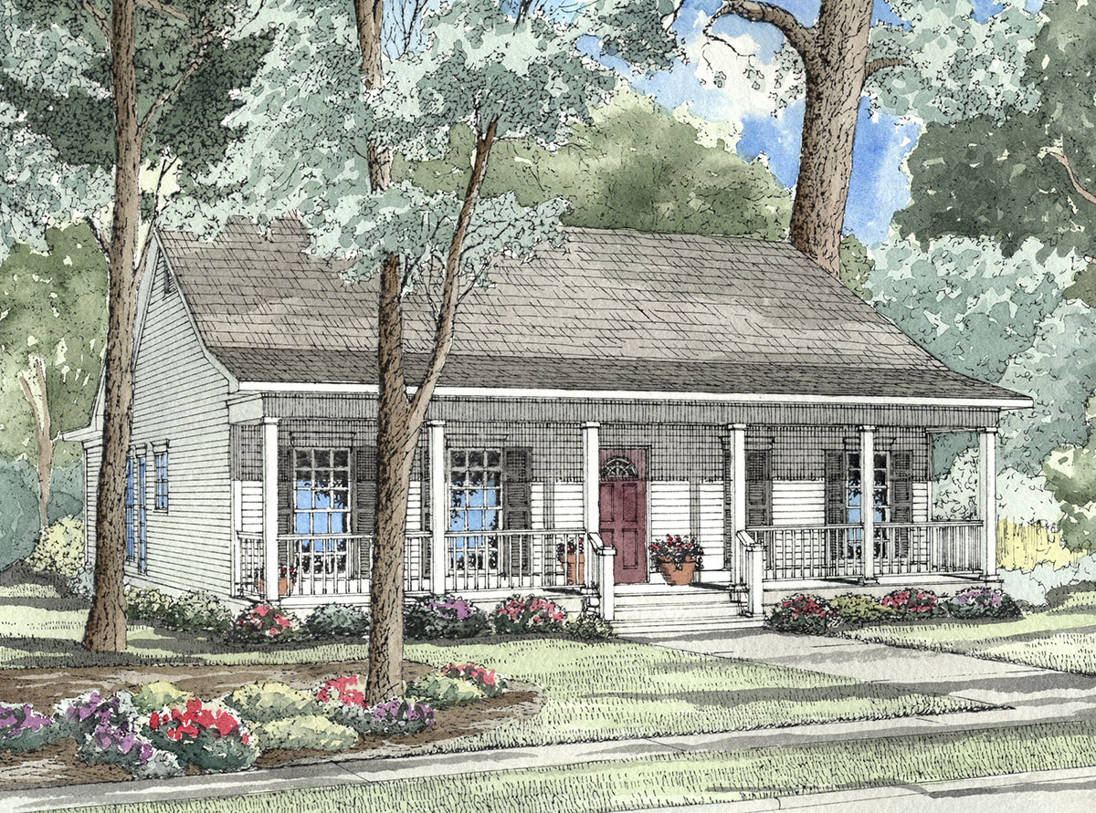 Traditional Southern Style Home Plan 59161ND CAD