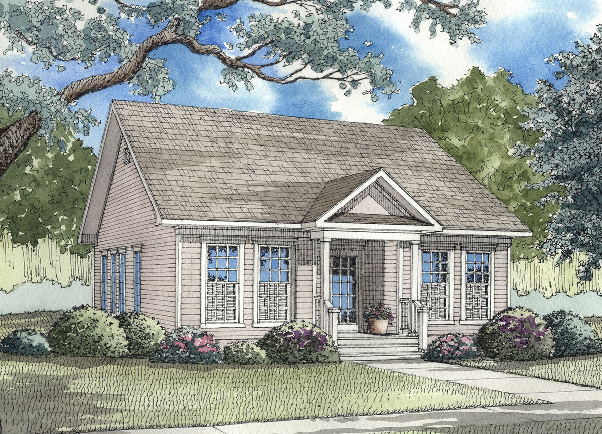 Southern traditional design 59162nd architectural for Southern home plans designs