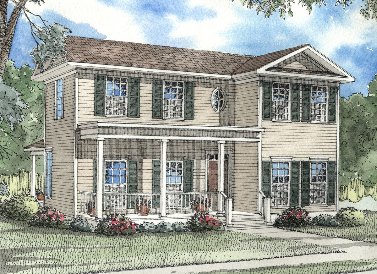 Southern Traditional Home 59163nd Architectural