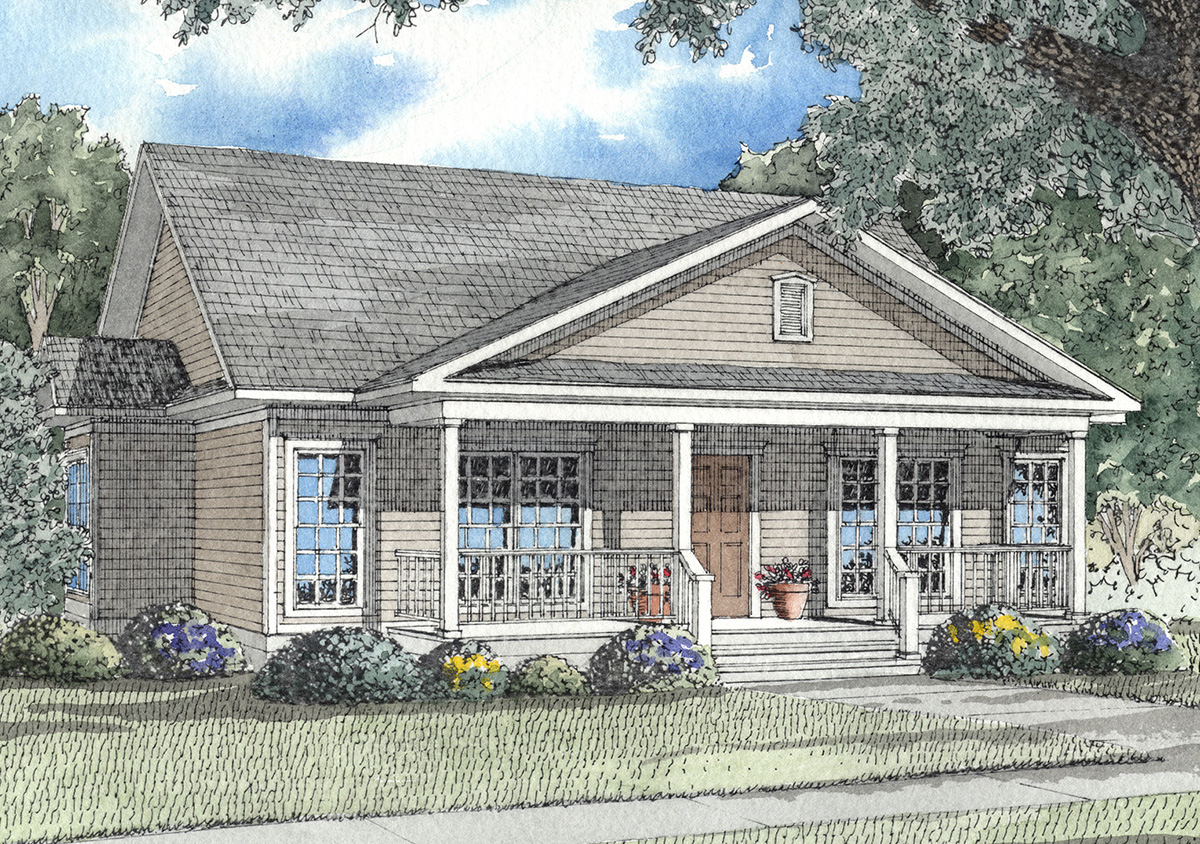 Classic Southern Charm 59165nd Architectural Designs: southern charm house plans