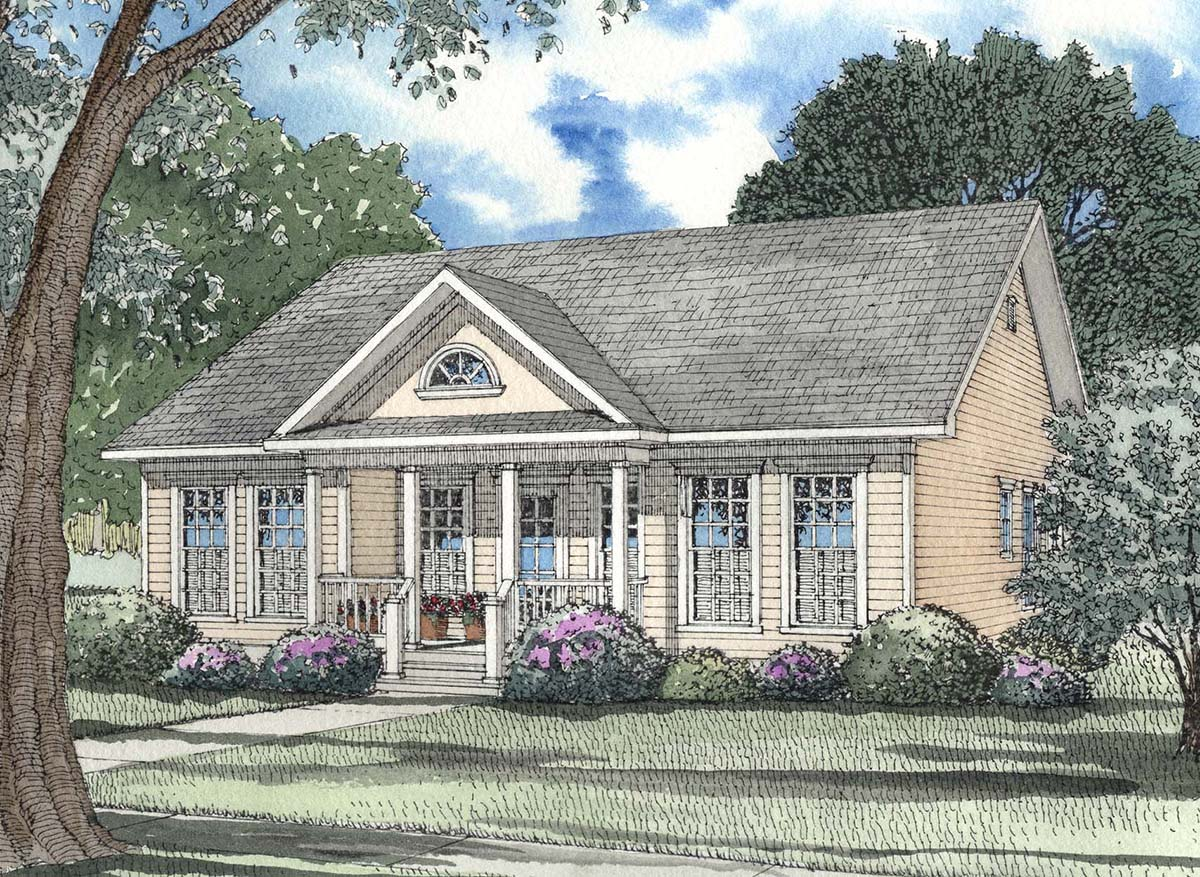 Perfect starter home 59166nd architectural designs for Starter house plans