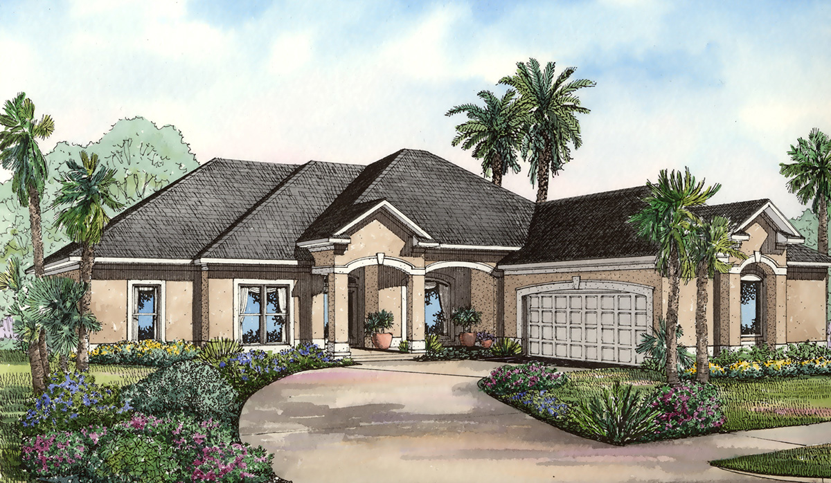 Courtyard entry design 59177nd architectural designs for Courtyard entry house plans