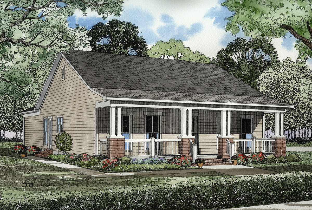 Craftsman style cottage 59188nd architectural designs for Craftsman cottage home plans