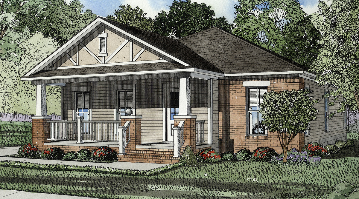 Timeless arts and crafts design 59191nd architectural for Timeless house plans