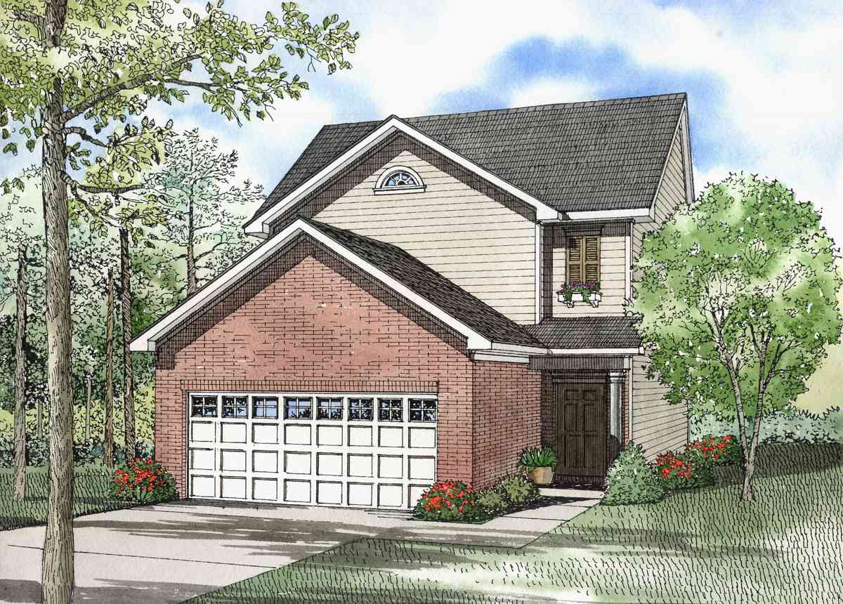 Two story family home 59212nd architectural designs for 2 family house plans