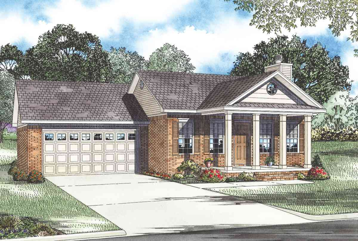 Traditional country home design 59235nd architectural for Traditional country house plans