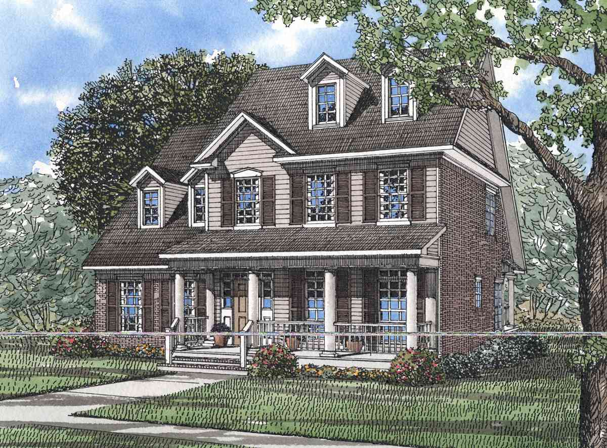 Old fashioned charm and southern flair 59242nd for Old fashioned home plans