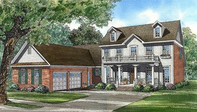 Southern traditional charmer 59244nd architectural for Traditional southern house plans