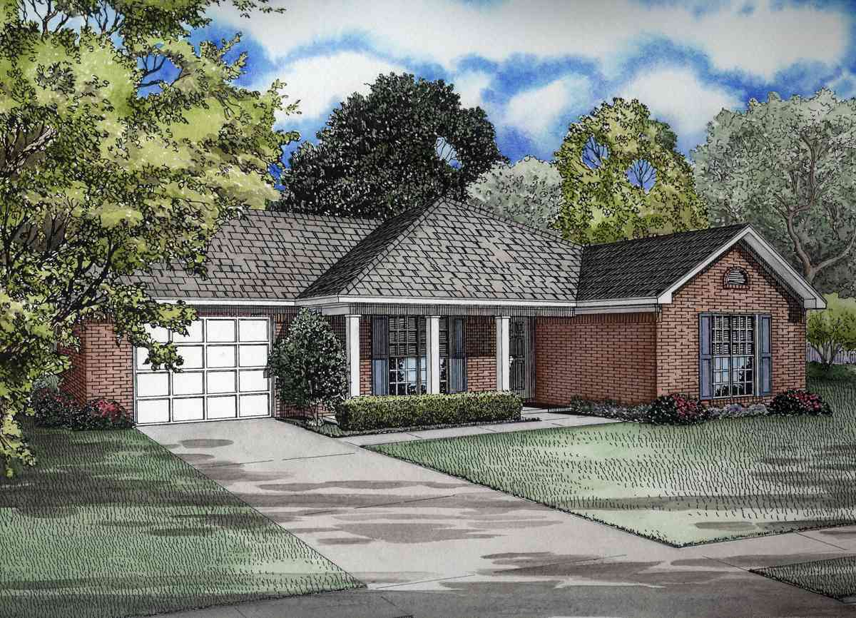 Sleek hip roof design 59255nd architectural designs for Hip roof house