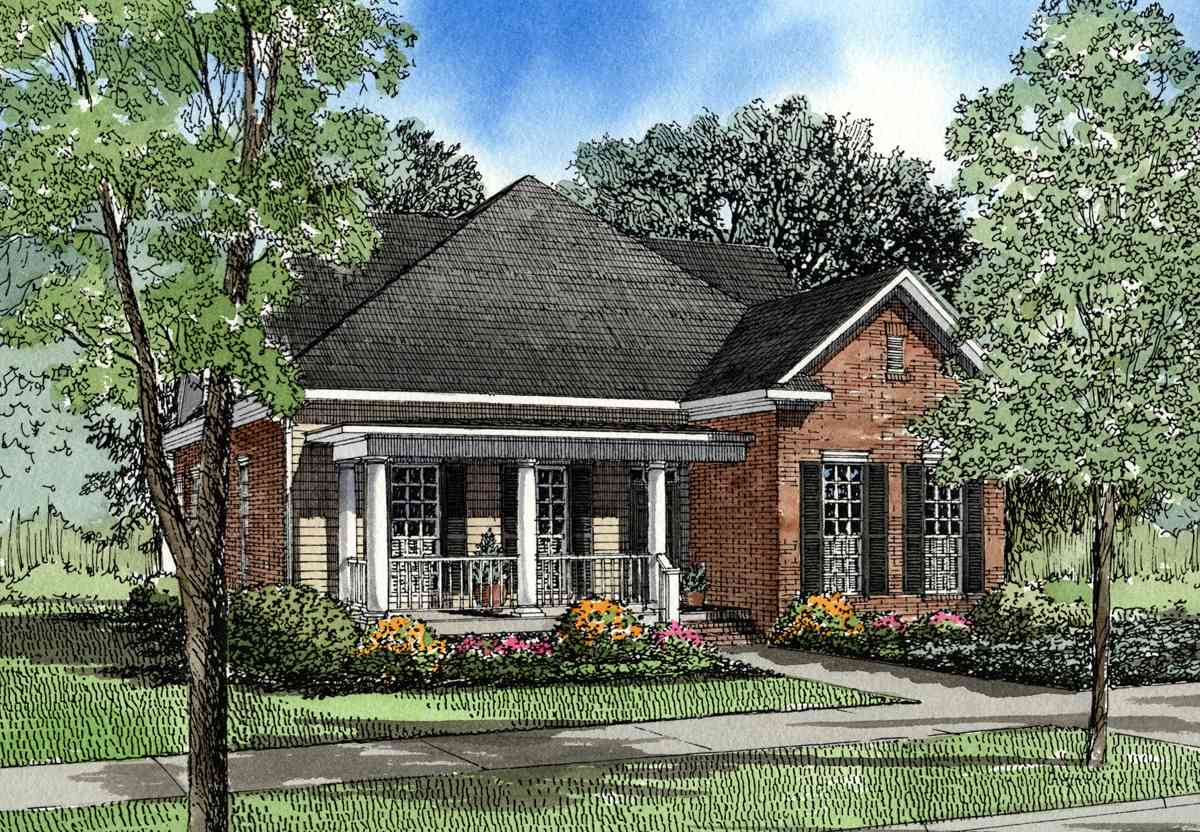 Traditional retreat 59272nd architectural designs for Retreat house plans