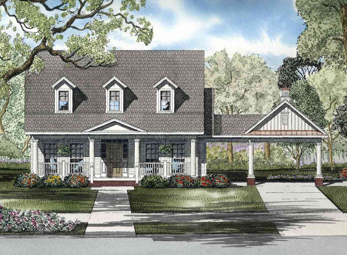 Timeless porte cochere 59294nd 1st floor master suite for Porte cochere home plans