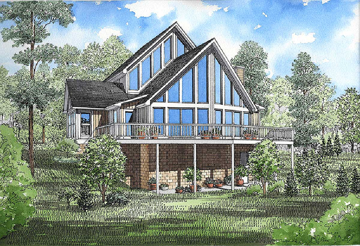 Year round vacation home plan 5931nd architectural for Free vacation home plans