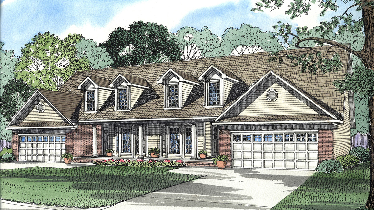 Southern traditional multi family 59334nd for Traditional southern house plans