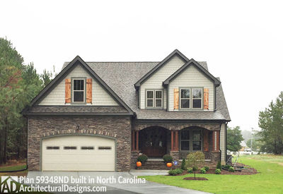 House Plan 59348ND comes to life in North Carolina - photo 002
