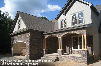 House Plan 59348ND comes to life in North Carolina - photo 003