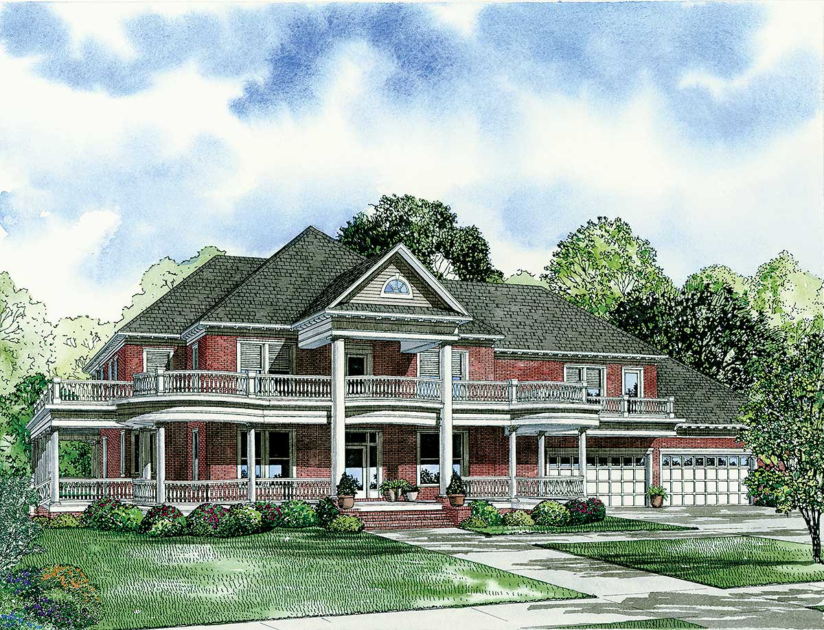 Classic southern styling 59363nd architectural designs for Classic southern house plans