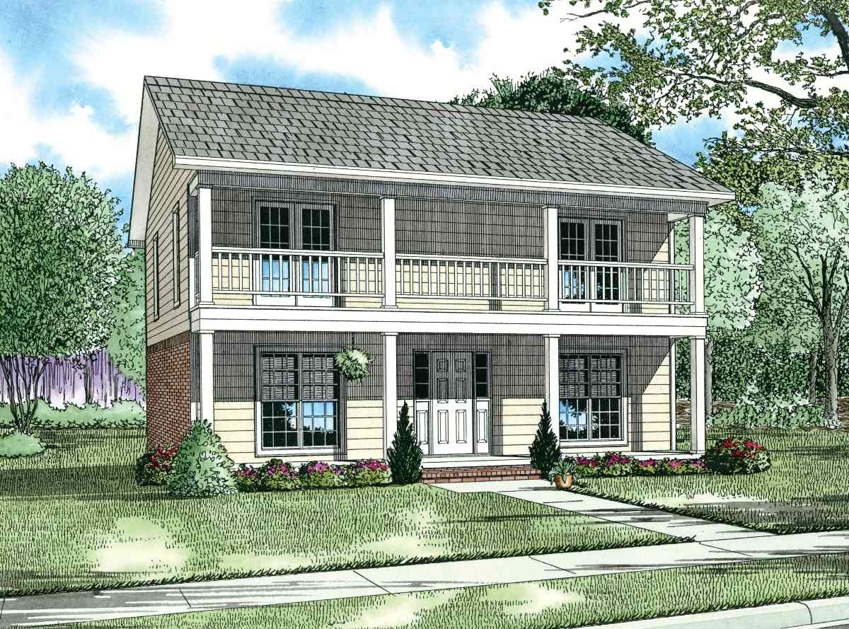 Duplex with single family appearance 59368nd for Duplex build cost