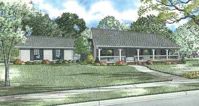 Sprawling Country House Plan - 59376ND thumb - 01
