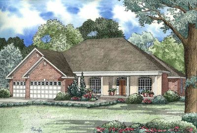 French classic ranch home plan 59436nd architectural for Classic ranch house plans