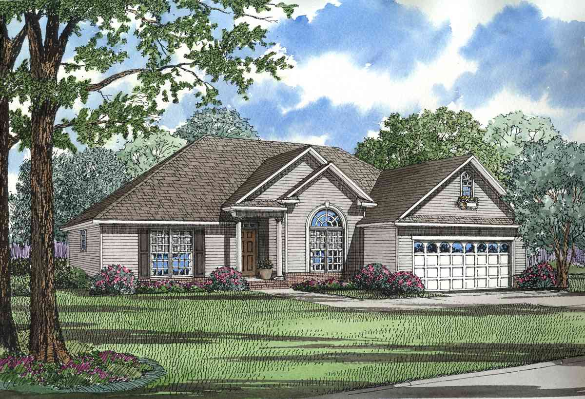 Rear porch for entertaining 59470nd 1st floor master for Nelson home designs