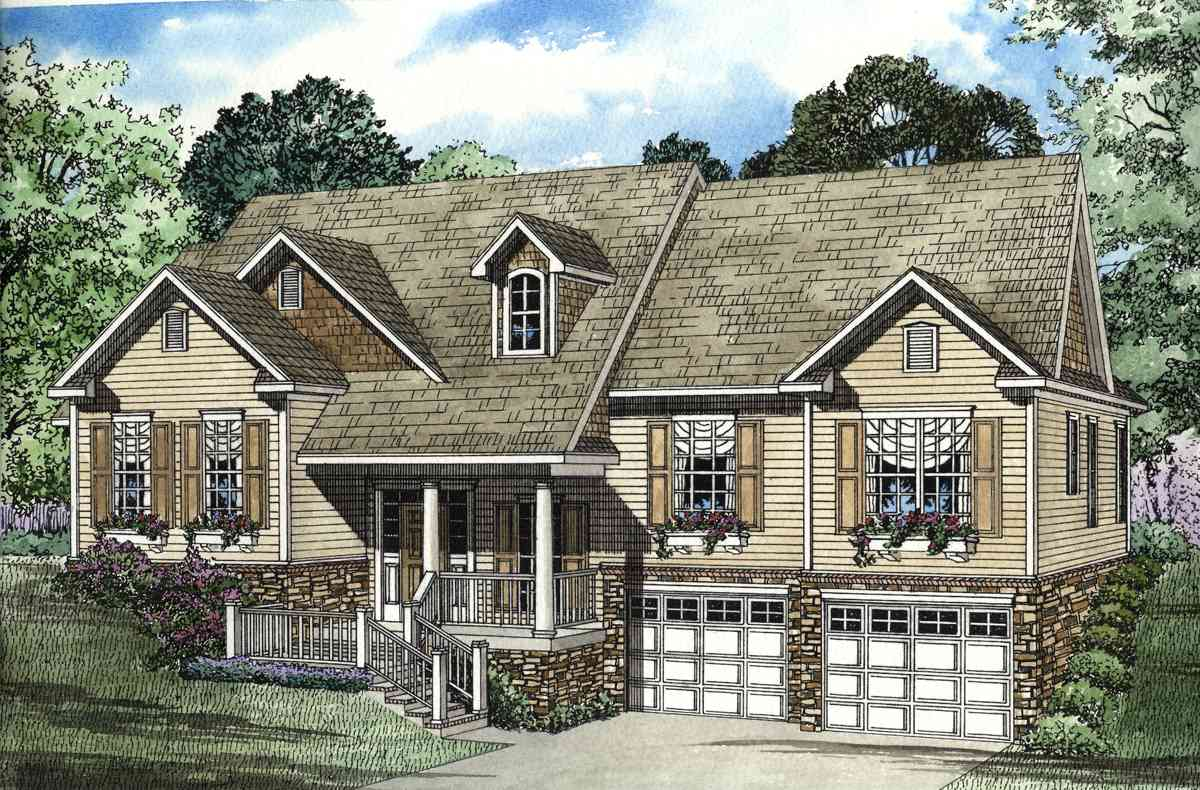 Vaulted and open great room 59514nd 1st floor master for Split foyer homes
