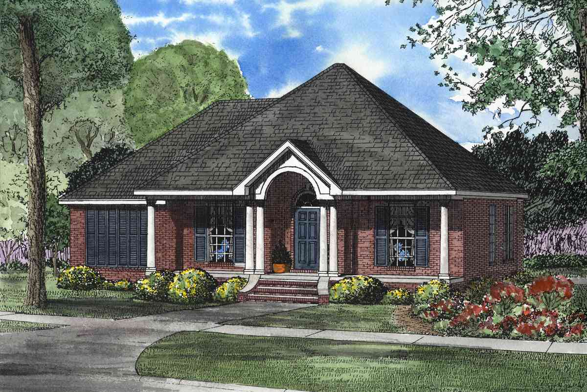 Gracious southern style 59635nd architectural designs for Southern architecture house plans