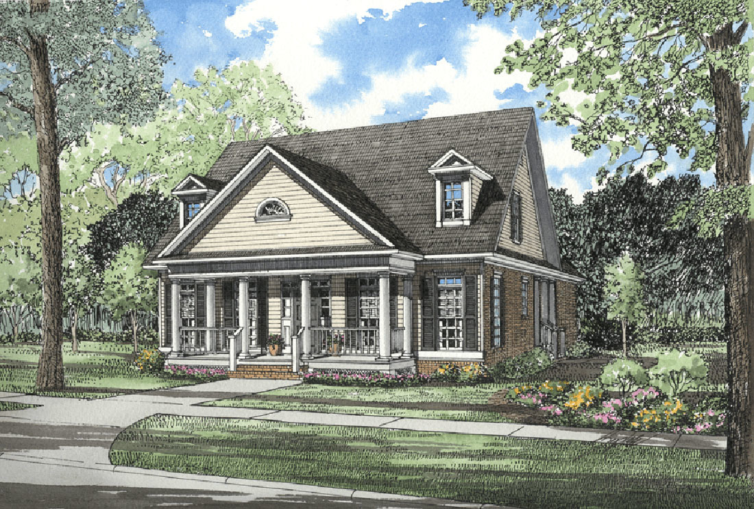 Southern charm 5965nd architectural designs house plans for Southern charm house plans