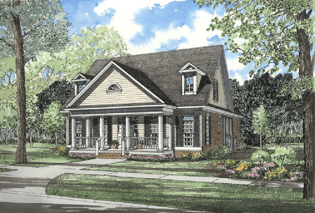 Southern charm 5965nd 1st floor master suite bonus for Southern charm house plans