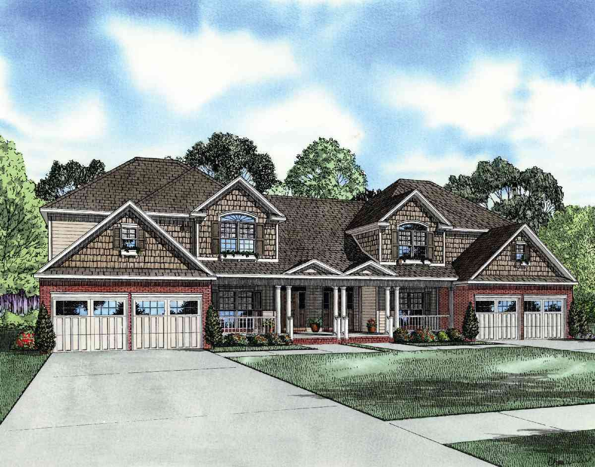 Beautiful Multifamily Design 59652nd Architectural Designs House Plans