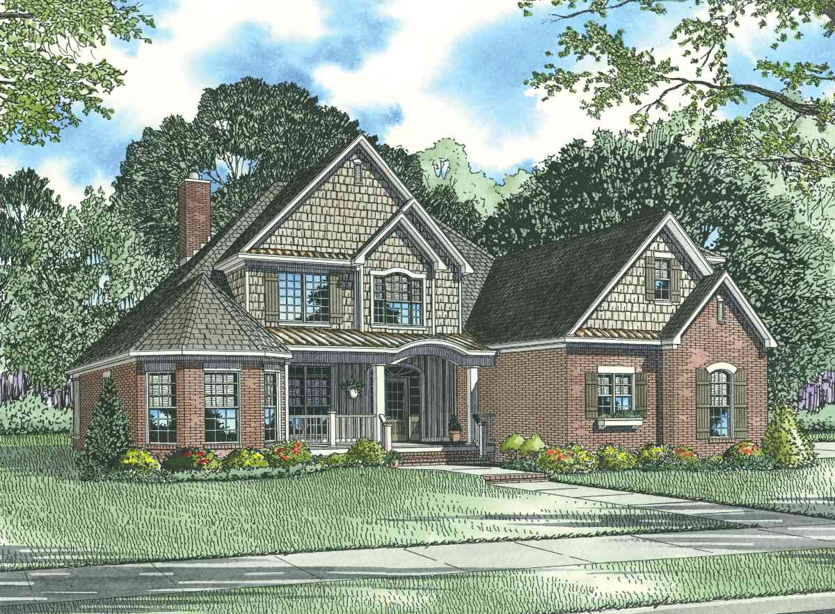 Craftsman detail 59730nd architectural designs house for Brick farmhouse plans