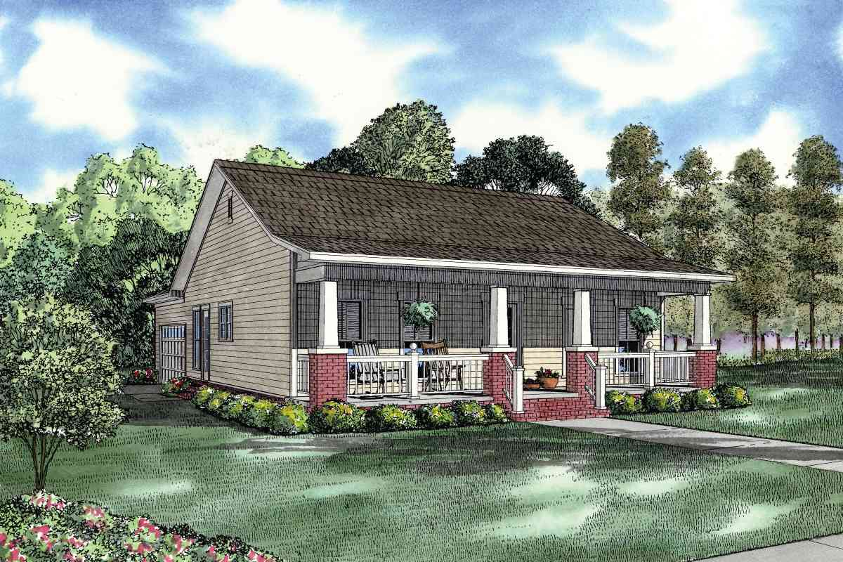 Country Cottage House Plan 59736nd Architectural
