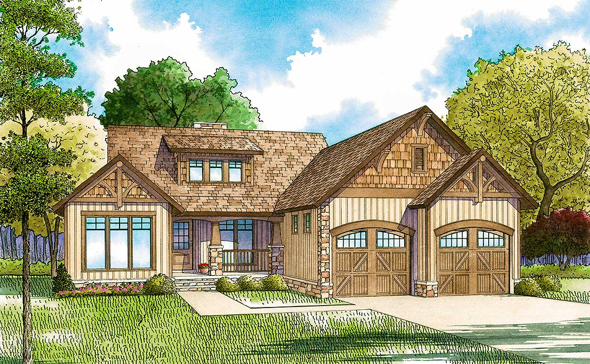 Craftsman style charm 59738nd architectural designs for Architecturaldesigns com house plan 56364sm asp