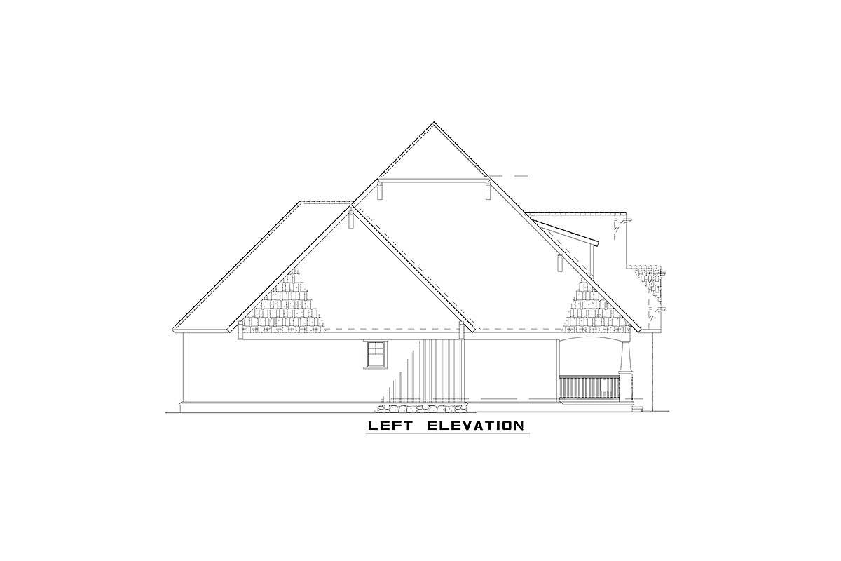 Craftsman Style Duplex House Plan 59741nd 1st Floor