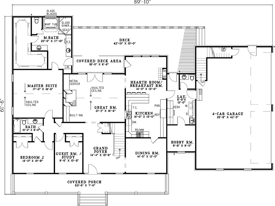 Grand Foyer House Plan : Grand foyer and great room nd st floor master