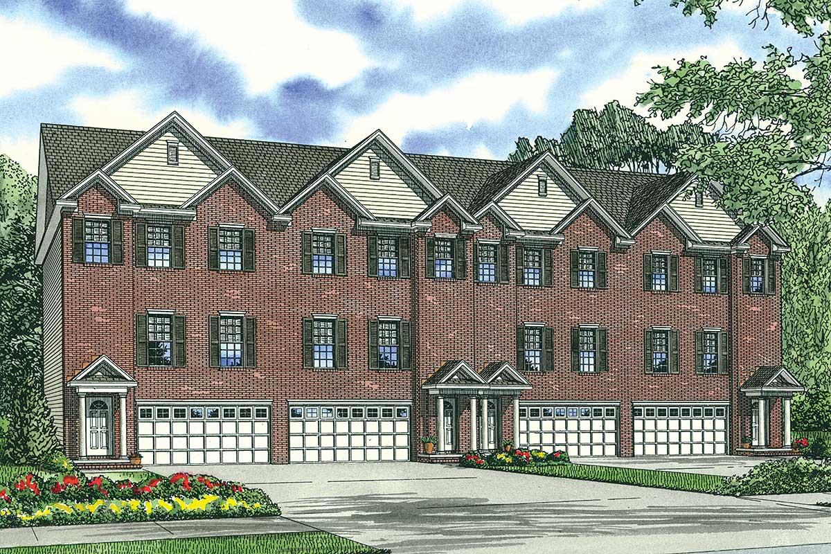 4 family house plan with lower level bonus room 59825nd for 4 family house plans