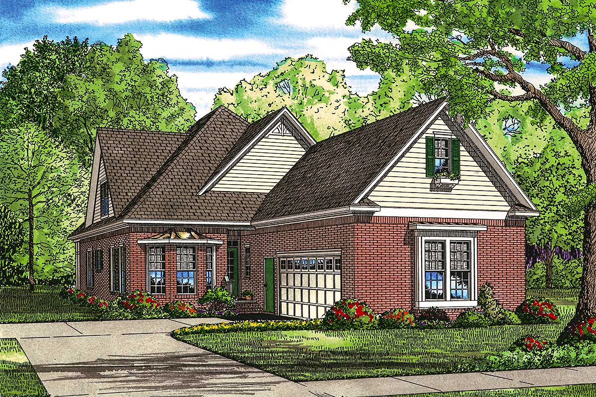 Dream home plan with generous great room 59864nd for Architecturaldesigns com house plan 56364sm asp