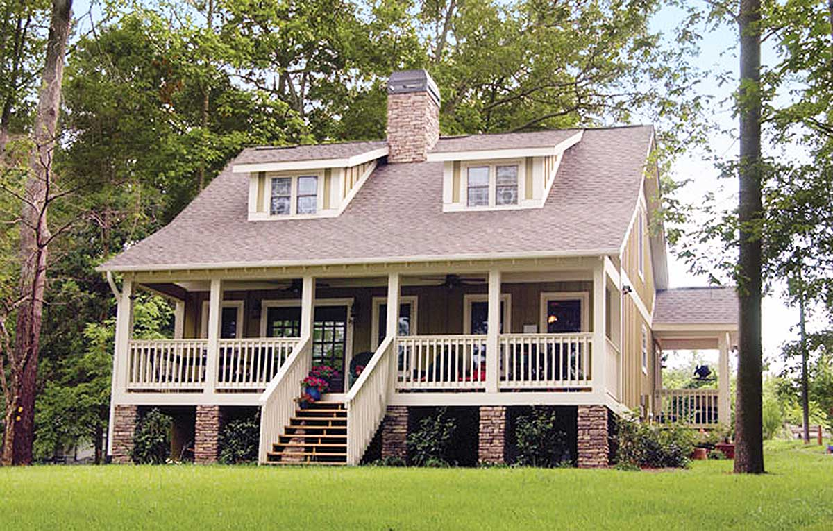 Raised country cottage 59910nd architectural designs for Raised cottage house plans