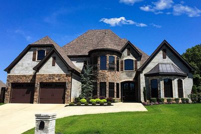 Elegant European House Plan with Two-Story Turret - 59950ND ...