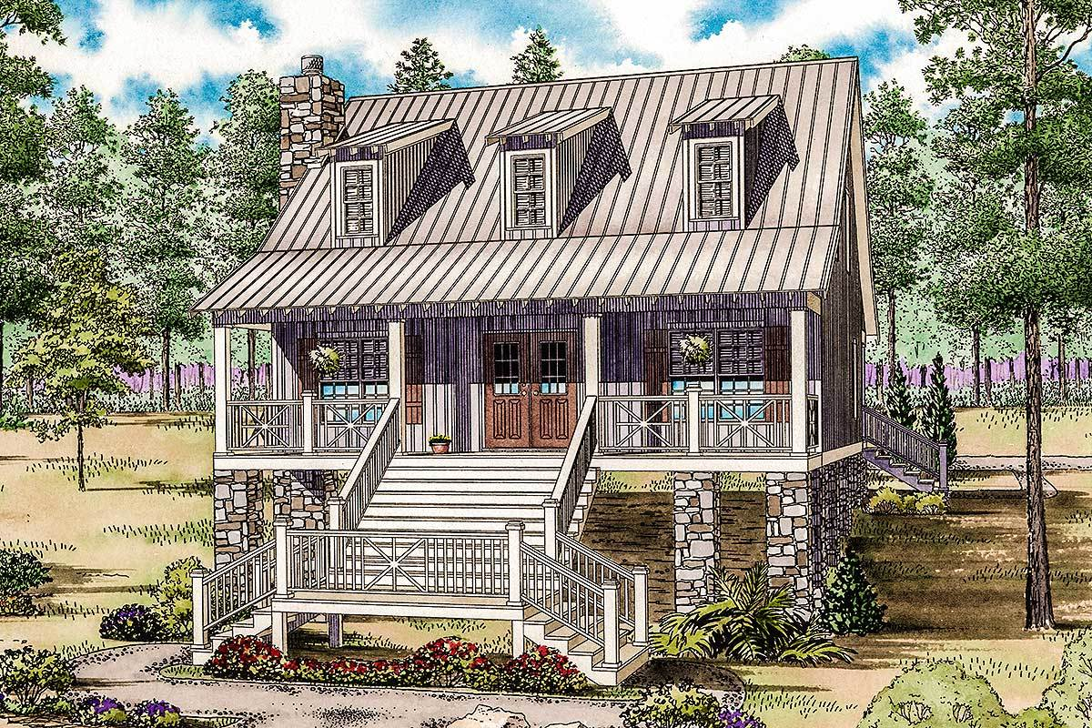 Adorable low country cottage 59959nd architectural for Low country cottage plans