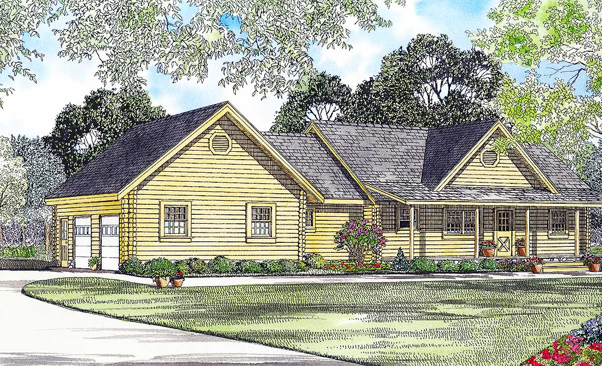 Entertaining ranch 5997nd architectural designs for Home plans for entertaining