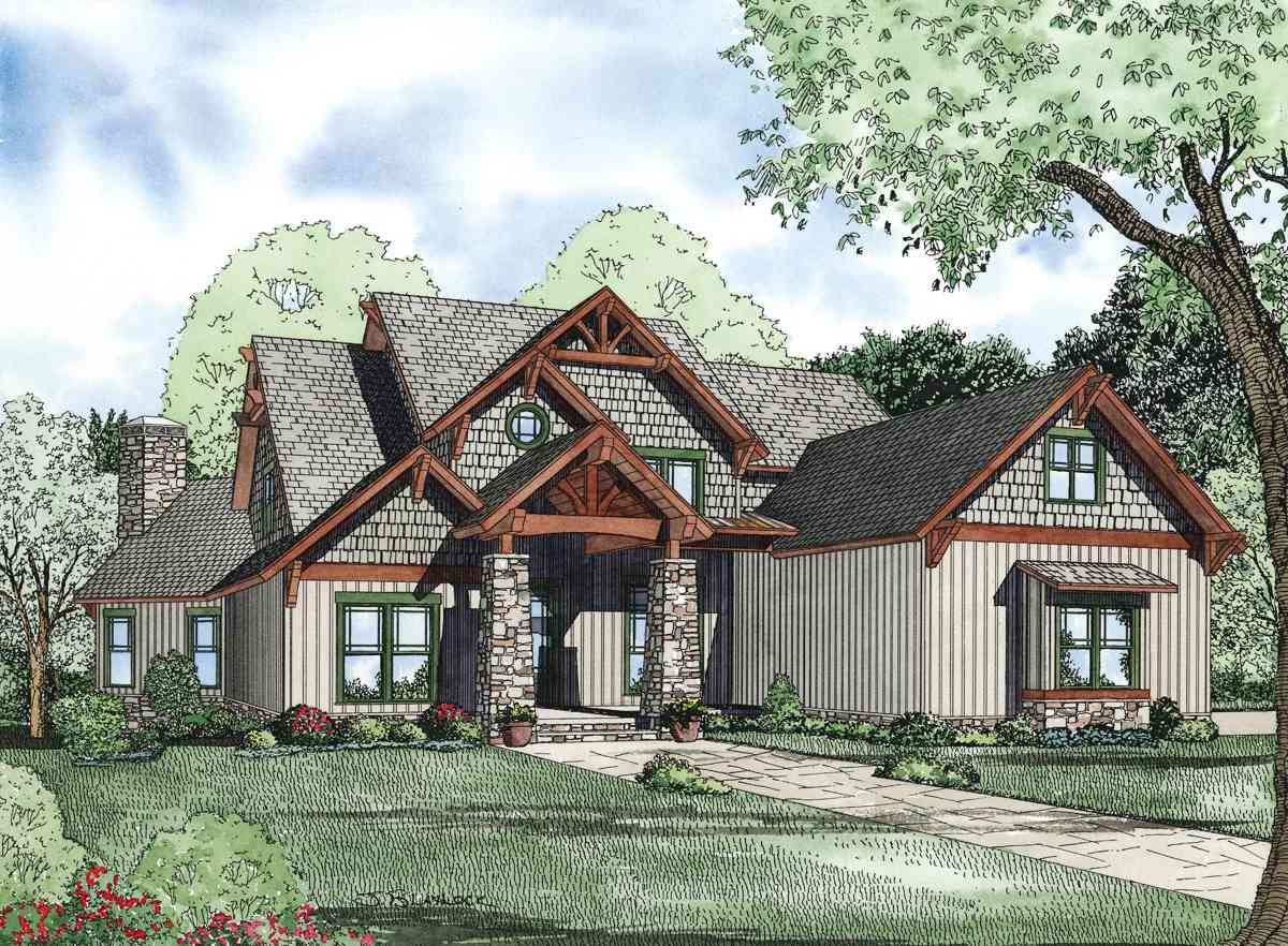 Rustic retreat 59985nd architectural designs house plans for Rustic retreat