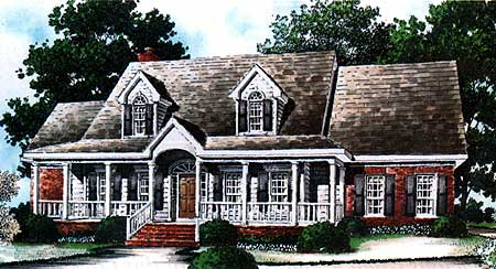 Beautiful Cottage House Plan 60005RC 1st Floor Master