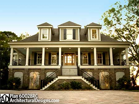 spacious low country home plan 60028rc architectural designs house plans - Architectural Designs Com