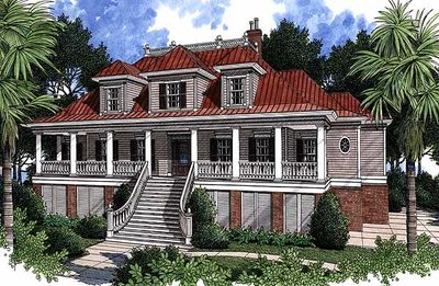 Spacious Low Country Home Plan - 60028RC thumb - 02