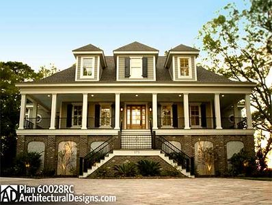 Spacious Low Country Home Plan - 60028RC thumb - 01
