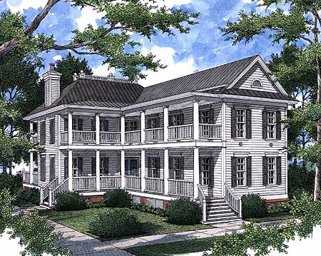 Historic charleston home plan 60031rc architectural for Charleston home plans
