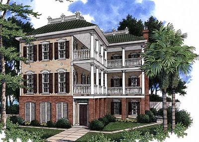 Angled Porches on Two Floors - 60035RC thumb - 02